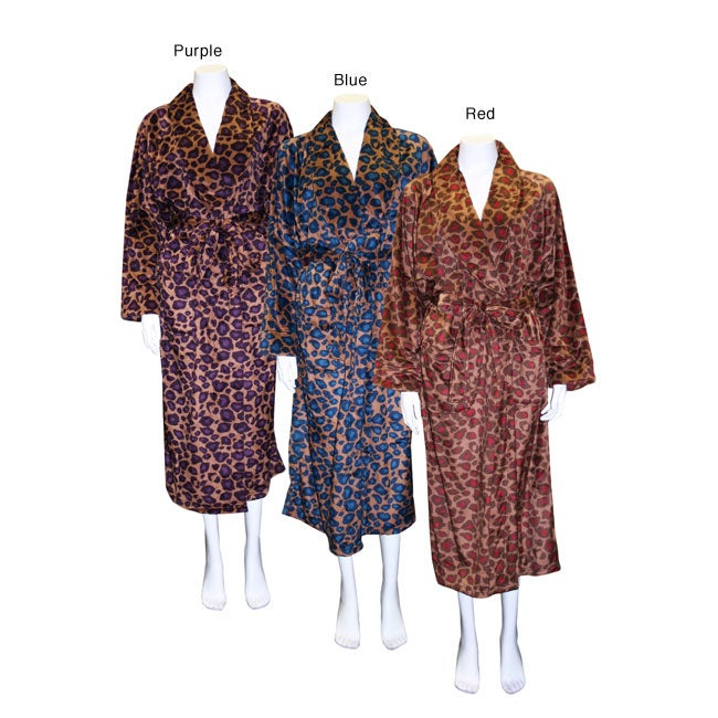 Women's Fall Cheetah Long Robe