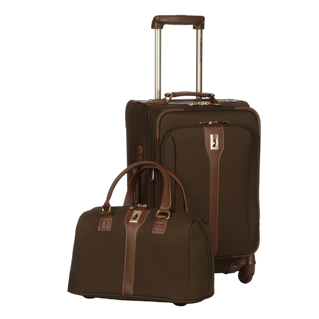 d04b6bdae Shop London Fog Olive Oxford Spinner 2-piece Luggage Set - Free Shipping  Today - Overstock - 5337201