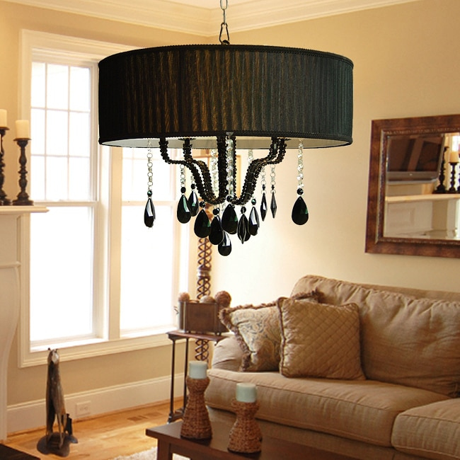 Gallery Indoor 4-light Black Chandelier - Thumbnail 0