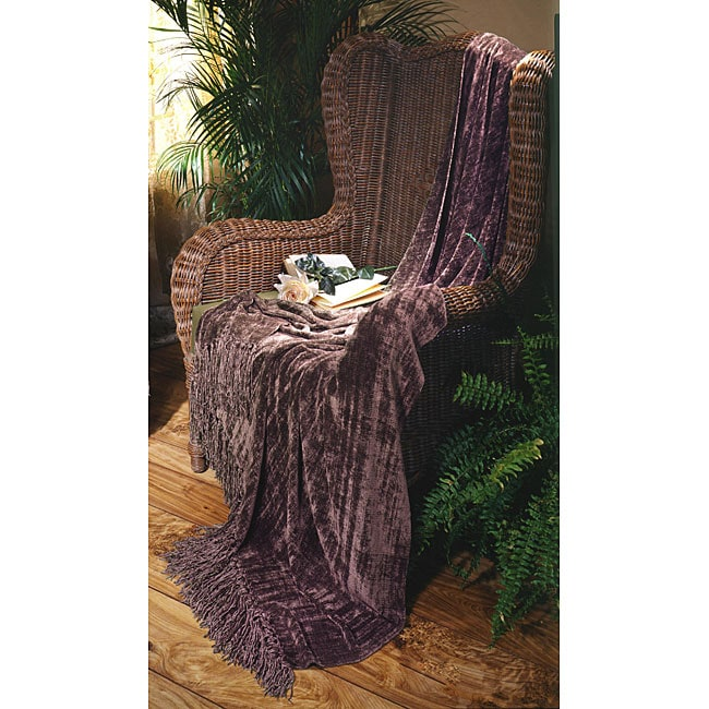 Lilac Illumina Chenille Throw