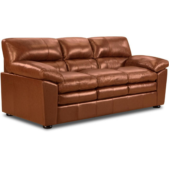 Parker Top Grain Leather Sofa Free Shipping Today