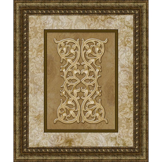 large panel medallion framed print metal art