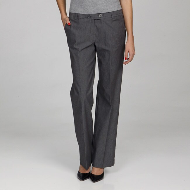 Larry Levine Women's Grey Dress Pants - Free Shipping On Orders ...