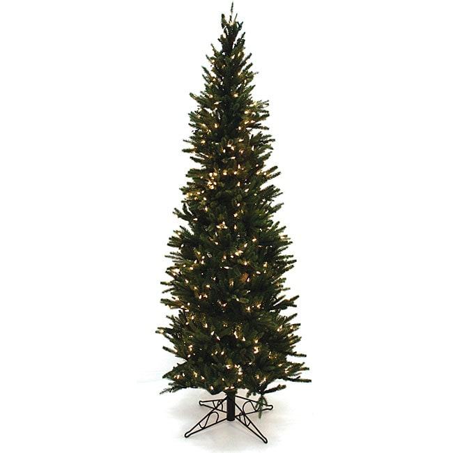 Good Tidings Oregon Pine 7.5-ft Artificial Prelit Christmas Tree
