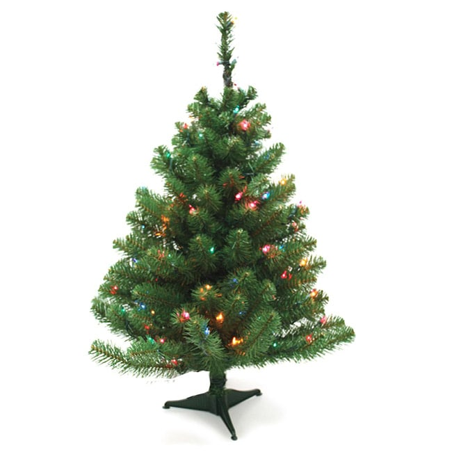Good Tidings Norway Spruce 3 Ft Artificial Prelit Tabletop