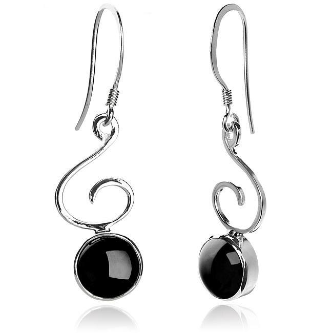 Sterling Silver Black Onyx 'Bella' Earrings