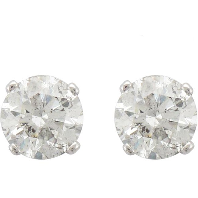 Unending Love 14k White Gold 1 1/2ct TDW Diamond Stud Earrings (I-J, I2-I3)