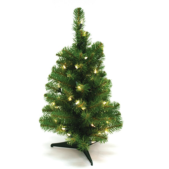 Good Tidings 2-feet Canadian Artificial Prelit Tabletop Christmas Tree