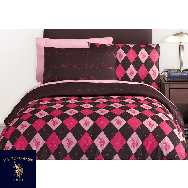 Us Polo Association Argyle Full Size Bed In A Bag And Sheet Set