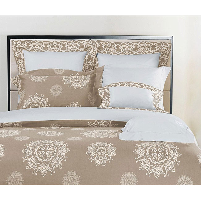 Medallion Taupe Queen-size Duvet Cover Set