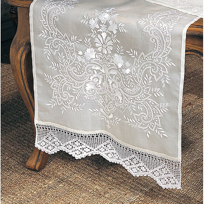 Crochet Border 20x72-inch Table Runner