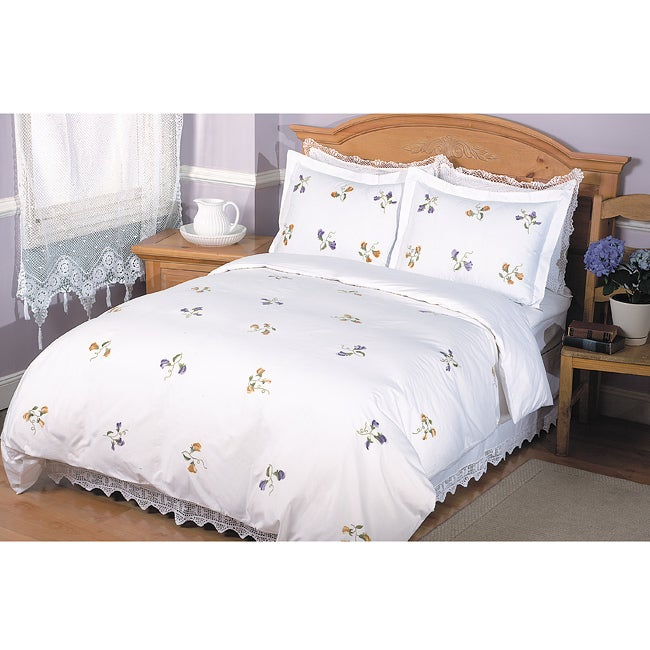 Sweet Pea Twin-size Duvet Cover Set