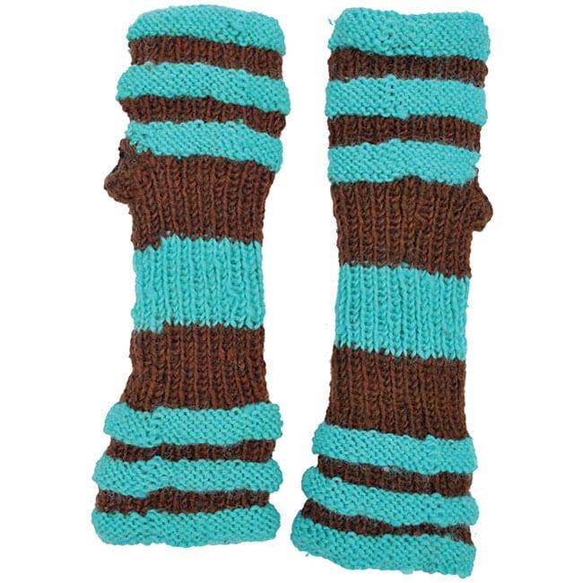 Wool Big Stripe Arm Warmer (Nepal)