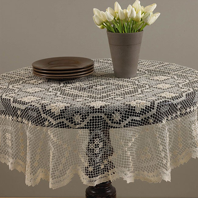 Tuscany 36 Inch Round Lace Topper Free Shipping On