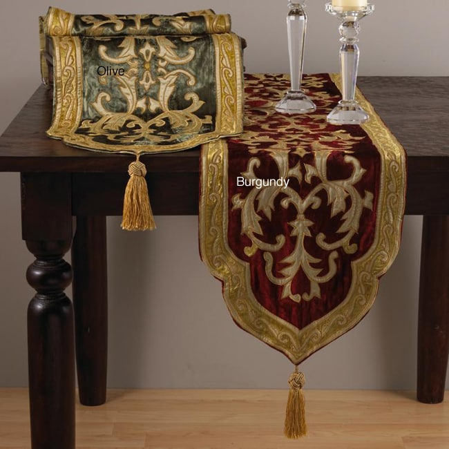 Applique Royal Velvet Table Runner Free Shipping Today