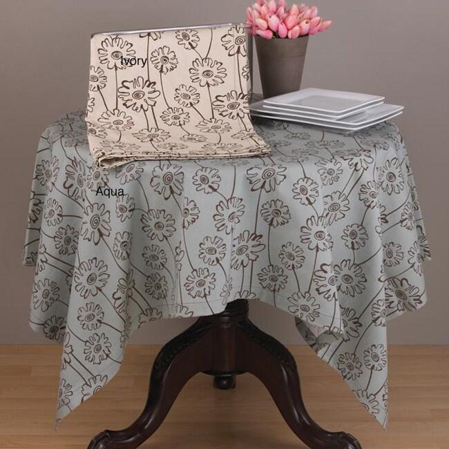 Daisy Print Square 60x60-inch Tablecloth