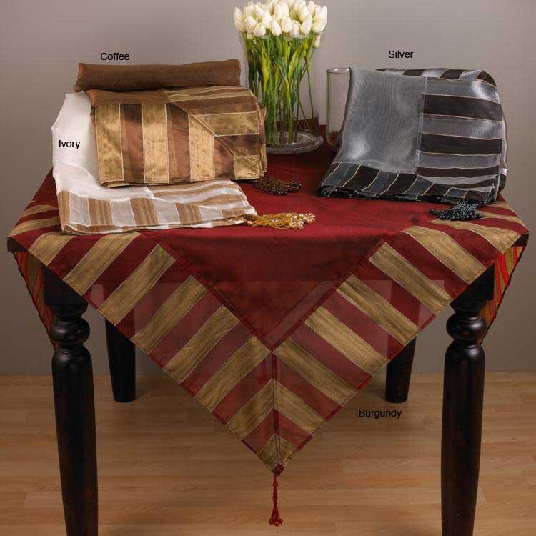 Striped Classique Square Tablecloth 80x80 Inches
