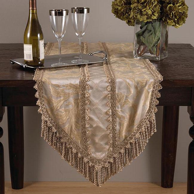 Versailles 72-inch Champagne Hexagon Table Runner