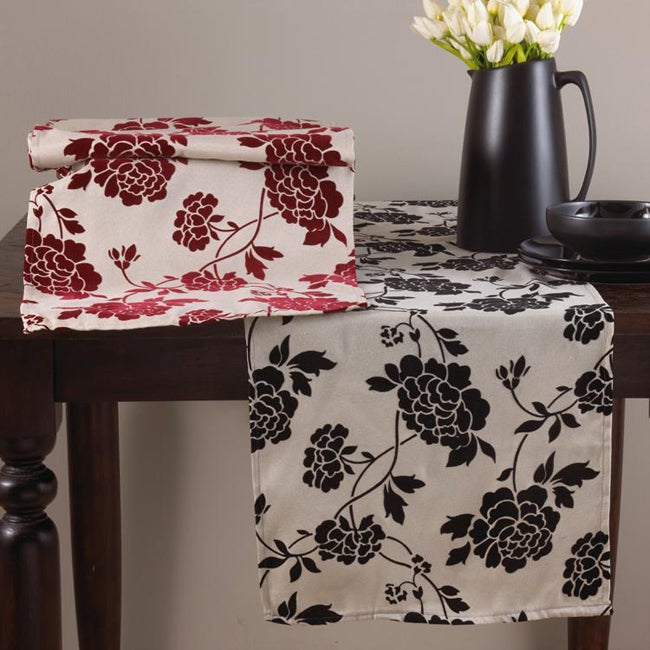 Flocked Floral Square 54 Inch Tablecloth Free Shipping