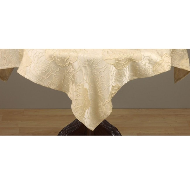 Champagne Rose 60-inch Square Tablecloth