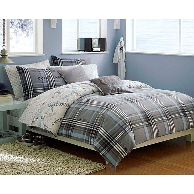 Quiksilver Payback Plaid 10-piece Queen-size Bed in a Bag with Sheet Set