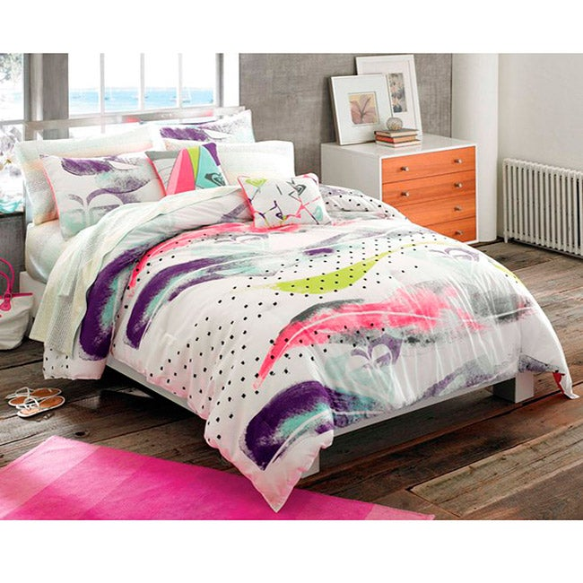 Shop Roxy Shadow 7-piece Twin XL-size Bed in a Bag with ...