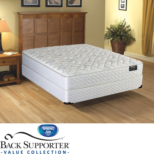 Spring Air Alpine Plush Value Back Supporter California King-size Mattress Set
