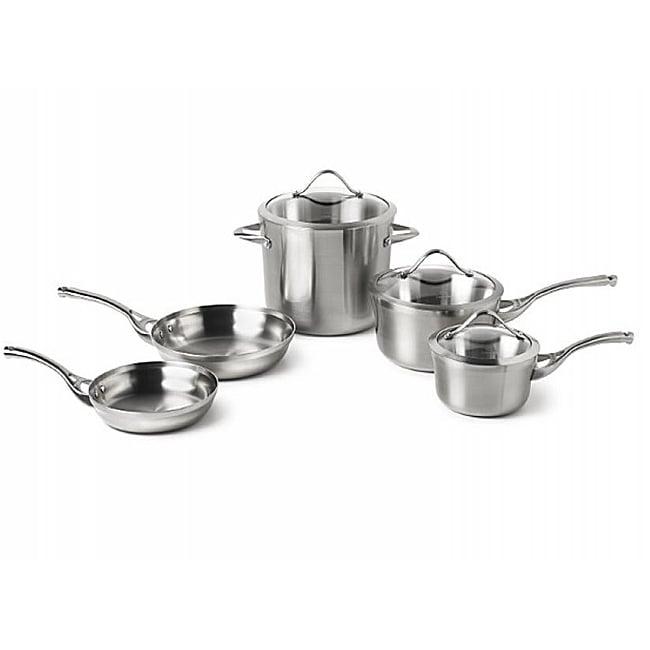 Calphalon Contemporary Stainless 8-piece Cookware Set