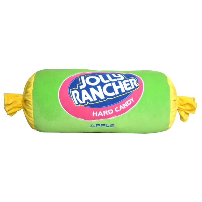 Green Apple Jolly Rancher Large Plush Pillow