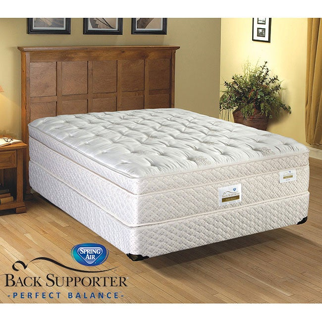Spring Air Bromley Euro Top Back Supporter California King-size Mattress Set - Thumbnail 0