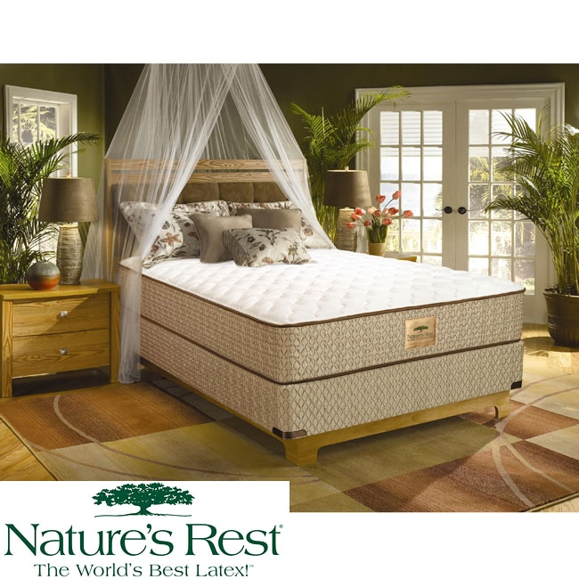 Nature's Rest by Spring Air Tahoe Firm Zoned Latex Foam Twin-size Mattress Set - Thumbnail 0