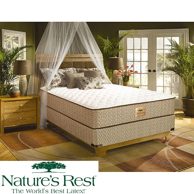 Nature's Rest by Spring Air Tahoe Firm Zoned Latex King-size Mattress Set - Thumbnail 0