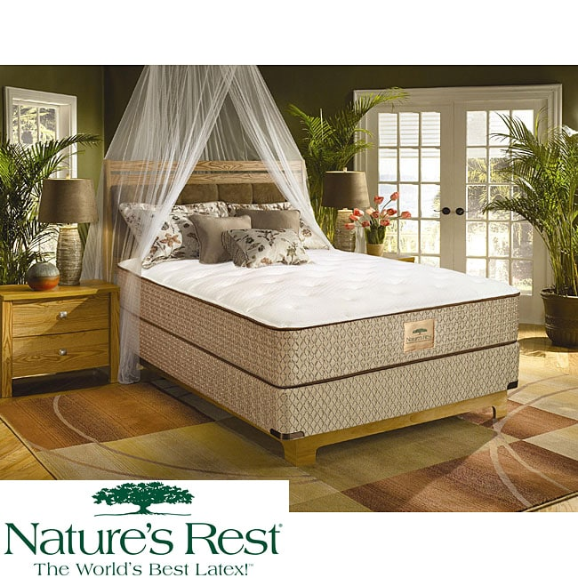 Nature's Rest by Spring Air Solitude Plush Zoned Latex Foam Queen-size Mattress Set - Thumbnail 0