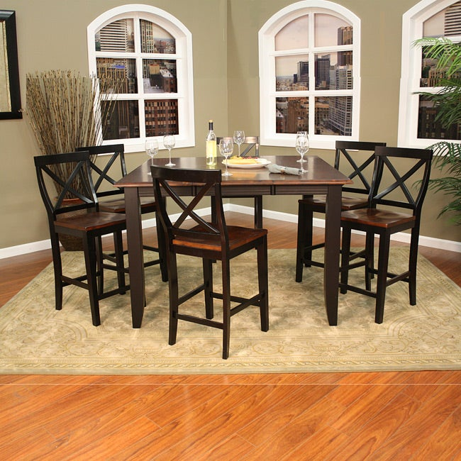 larue 7 piece butterfly leaf counter height dining set free shipping