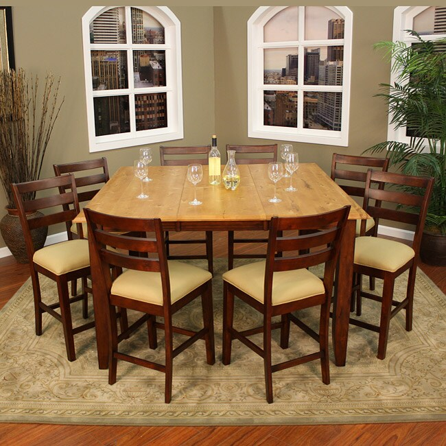alexis 9 piece butterfly leaf counter height dining set free