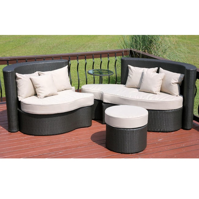 Savannah Outdoor Clics Budapest 3 Piece Wicker Day Bed Set Free Shipping Today 5414275