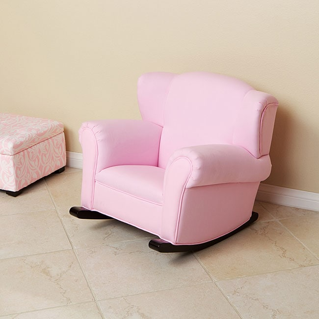 Child's Pink Fabric Rocking Chair - Free Shipping Today ...