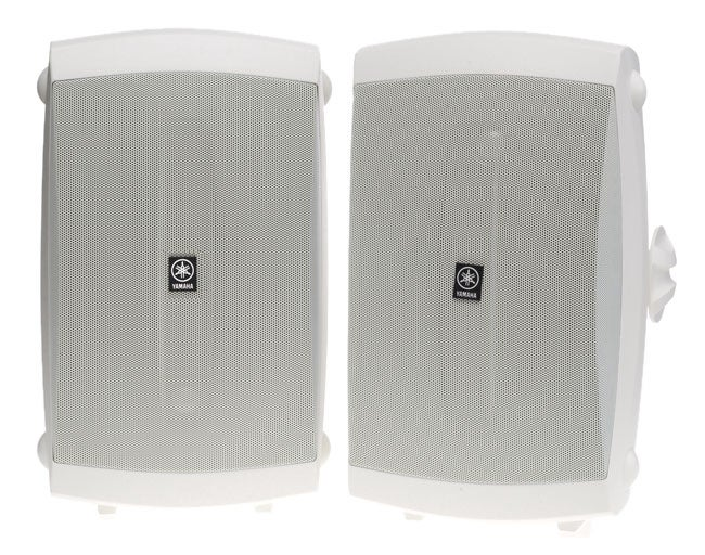 Yamaha ns aw350w indoor outdoor two way speakers white for Refurbished yamaha speakers