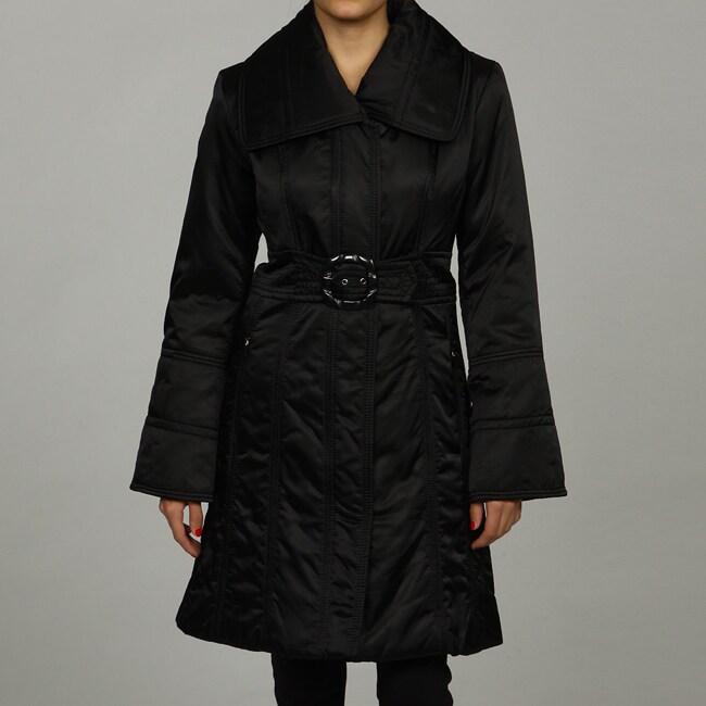 Jessica Simpson Belted Napkin Collar Puffer Jacket