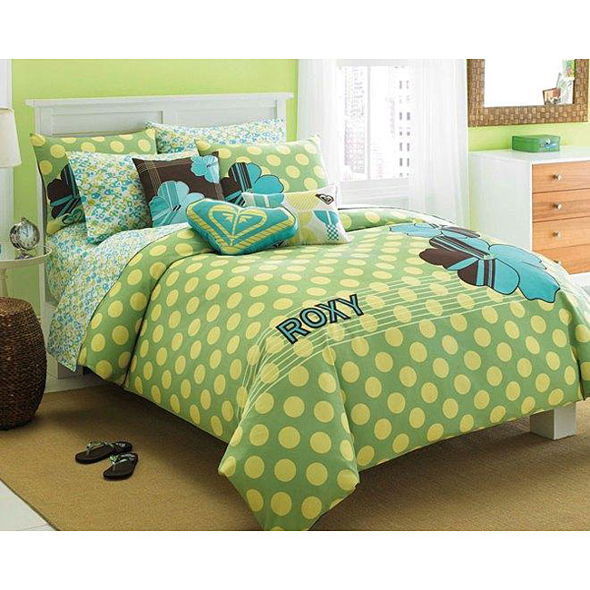 Roxy Vivid Twin-size Duvet Cover Set