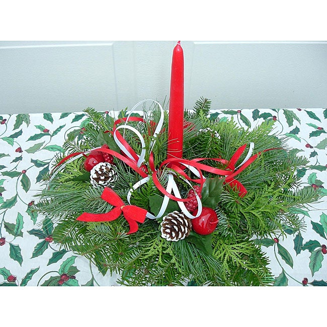 Shop fresh balsam holiday centerpiece free shipping on