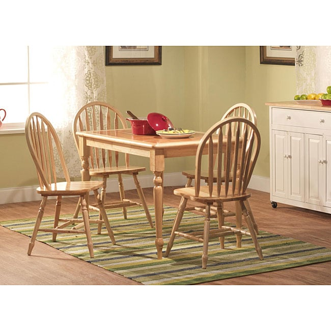 Simple Living Tile Table Top -piece Rubber Wood Dining Set - Free