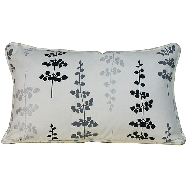 Outdoor Black Leaves Decorative Pillow - Thumbnail 0