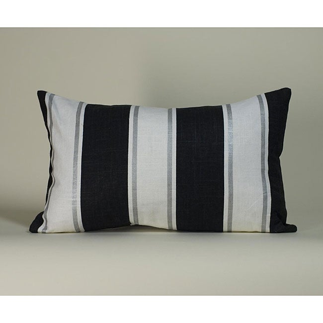 Black and White Ray Decorative Pillow