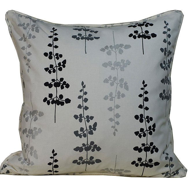 Outdoor Black Leaves Decorative Pillow