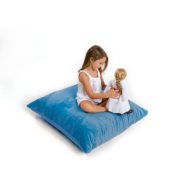 Zoe Junior Removable Blue Furry Cover Pillow Sac