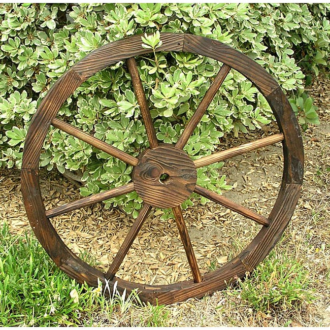 Cedar Wagon Wheel Garden Decoration Free Shipping On