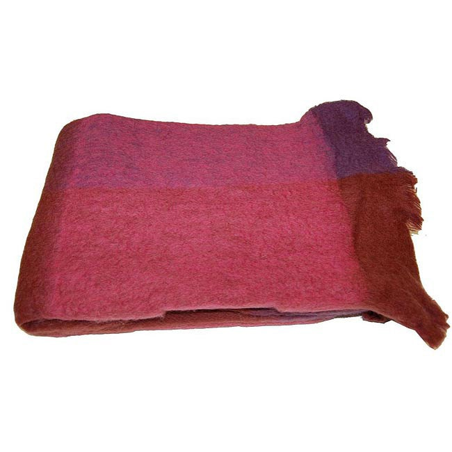 Mohair Blend Fuchsia Throw (India)