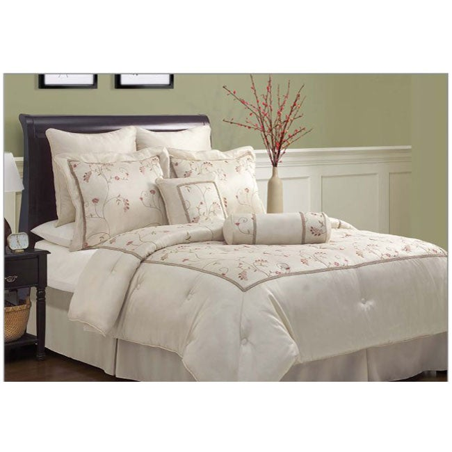 Savannah Beige 8-piece Comforter Set