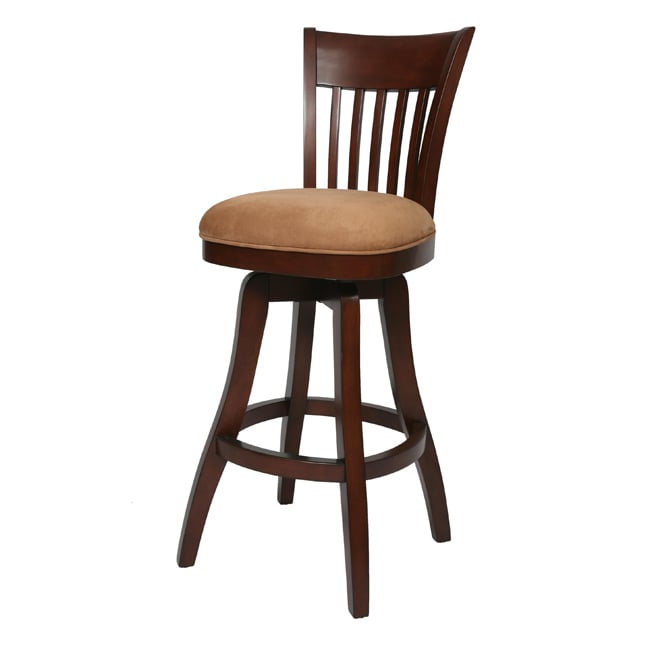 Labelle 26 Inch Wood Swivel Counter Stool Free Shipping